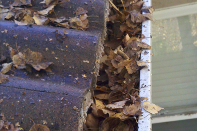 gutter cleaning and flood prevention
